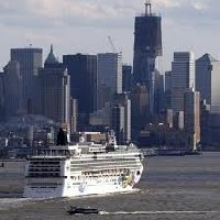 Cruise Ship leaving New York City