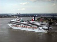 Cruise Ship leaving New Orleans